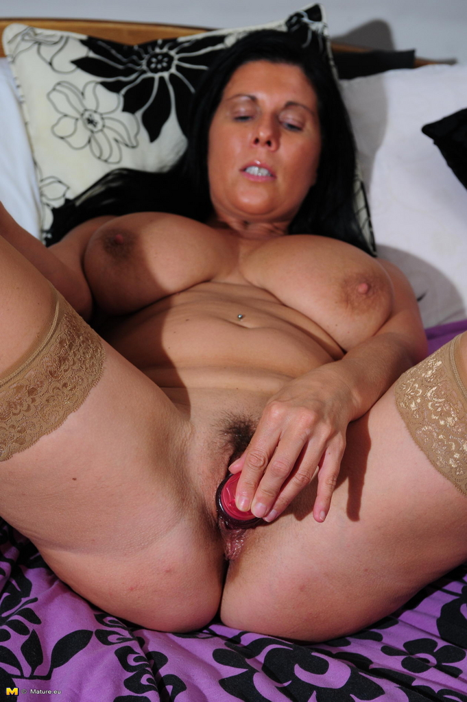 Wet and horny mature