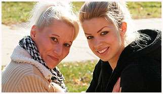 Mature lesbians, young girls and mature woman